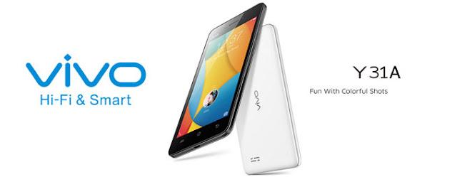 Vivo Y31A, Smartphone Quad Core RAM 1GB Rp2 Jutaan