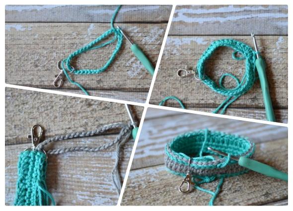 Llaveros de crochet con mosquetones