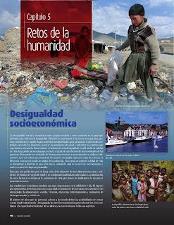 Apoyo Primaria Atlas de Geografía del Mundo 5to. Grado Capítulo 5 Lección 1 Retos de la humanidad, Desigualdad Socioeconómica