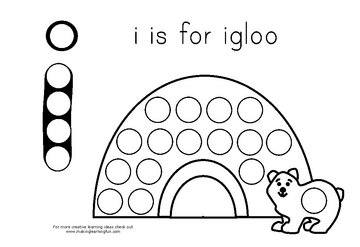Free for kids: Igloo Magnet Page