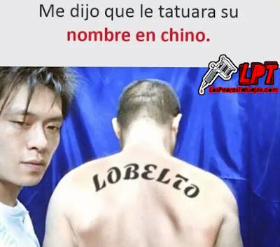 Meme de humor : Tatuaje en chino