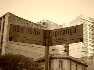 Esquina da Ipiranga com a Avenida São João