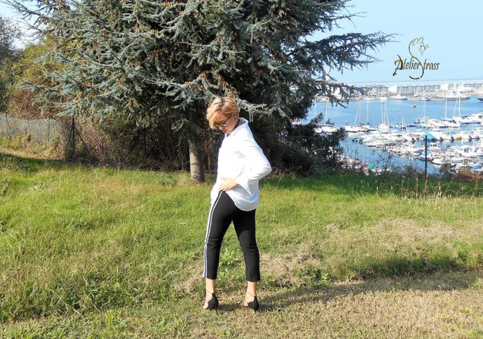 pantalon con raya lateral