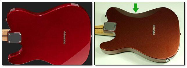 Rebaje en la Madera de una Guitarra Telecaster para Mayor Comodidad