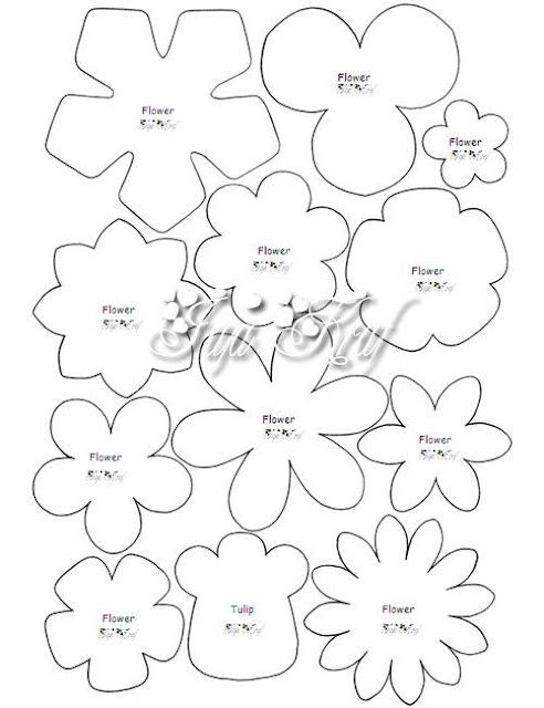 Moldes De Flores Em Feltro Para Imprimir Como Faco