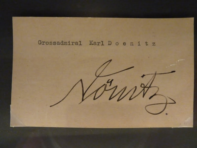 The signature of Grossadmiral Karl Donitz