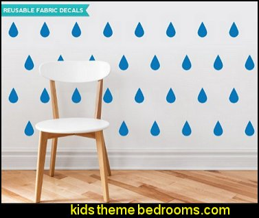 Raindrop Fabric Wall Decals weather theme wall decorations