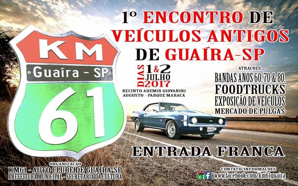 1º Encontro de Veículos Antigos de Guaíra-SP