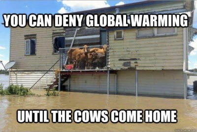 Denying global warming until the cows come home