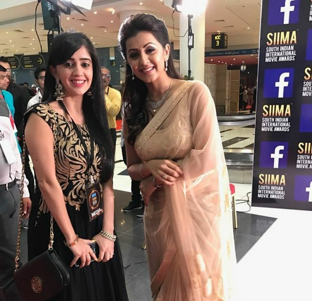 Nikki Galrani In Hot Saree at SIIMA Awards 2017 Stills
