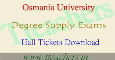 OU Degree hall tickets 2017 osmania university ug exam hall ticket download