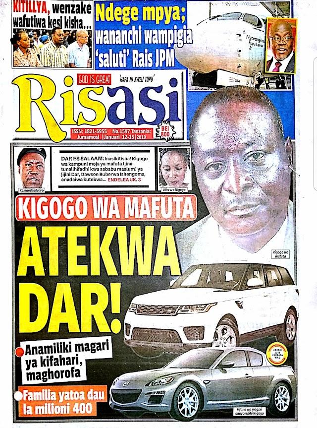 Leo January 12, 2019 Katika Kurasa Magazetini.