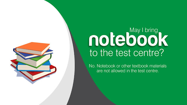 May I bring notebook  to the JAMB test centre?