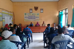 PKM wera giat pelatihan STBM gerakan masyarakat  hidup sehat