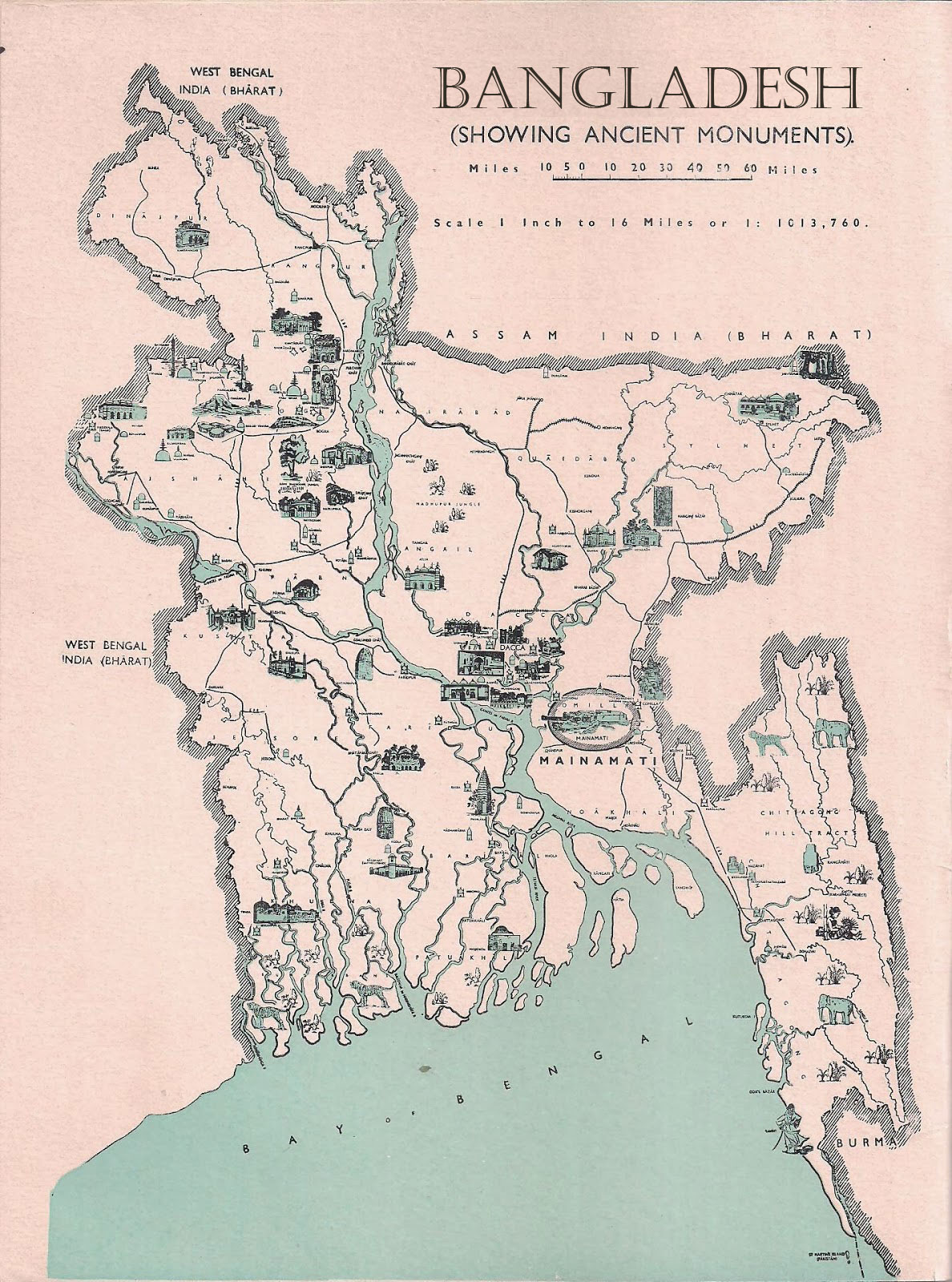 Ancient Monuments Map Bangladesh