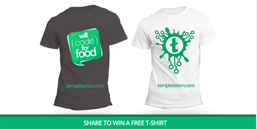 Releasing Templateism T-Shirts Avalible for Purchase