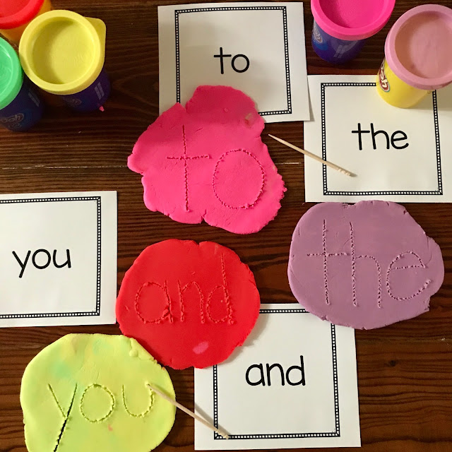 A great way to practice and learn sight words at home or in the classroom