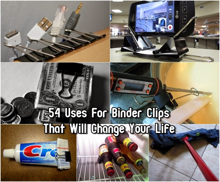 54 uses for binder clips that will change your life diy craft projects. Black Bedroom Furniture Sets. Home Design Ideas