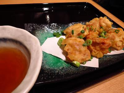 Yomoda Soba, tori tempura