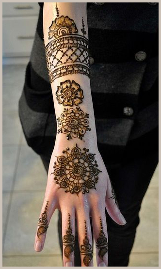 Tashiara FavoriteOrnate Circle I Beautiful, easy and simple bridal mehendi/mehandi designs for hands.