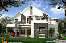 Spectacular Sloped Roof Houses - House Plans 11238
