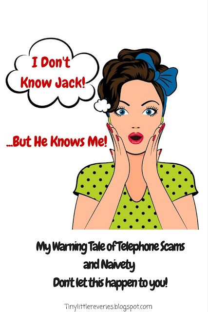 I Don't Know Jack, But He Knows Me. A warning blog post about telephone scams.