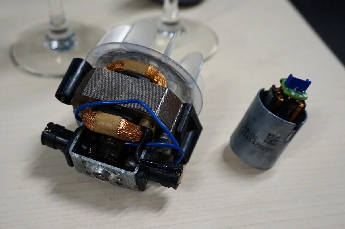 The Dyson Supersonic Motor versus a regular hairdryer motor