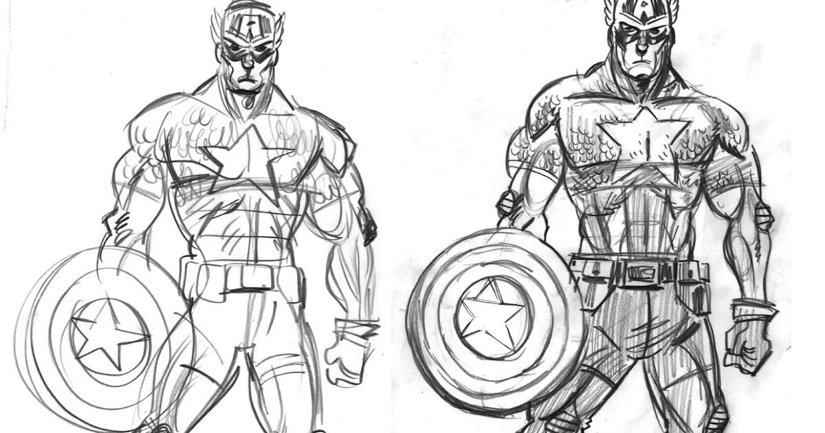 Capitan America Para Colorear: COLOREA TUS DIBUJOS: Capitán América Para Colorear