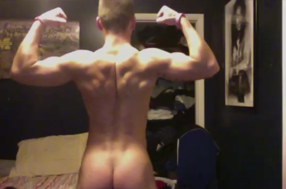 muscled guys butt