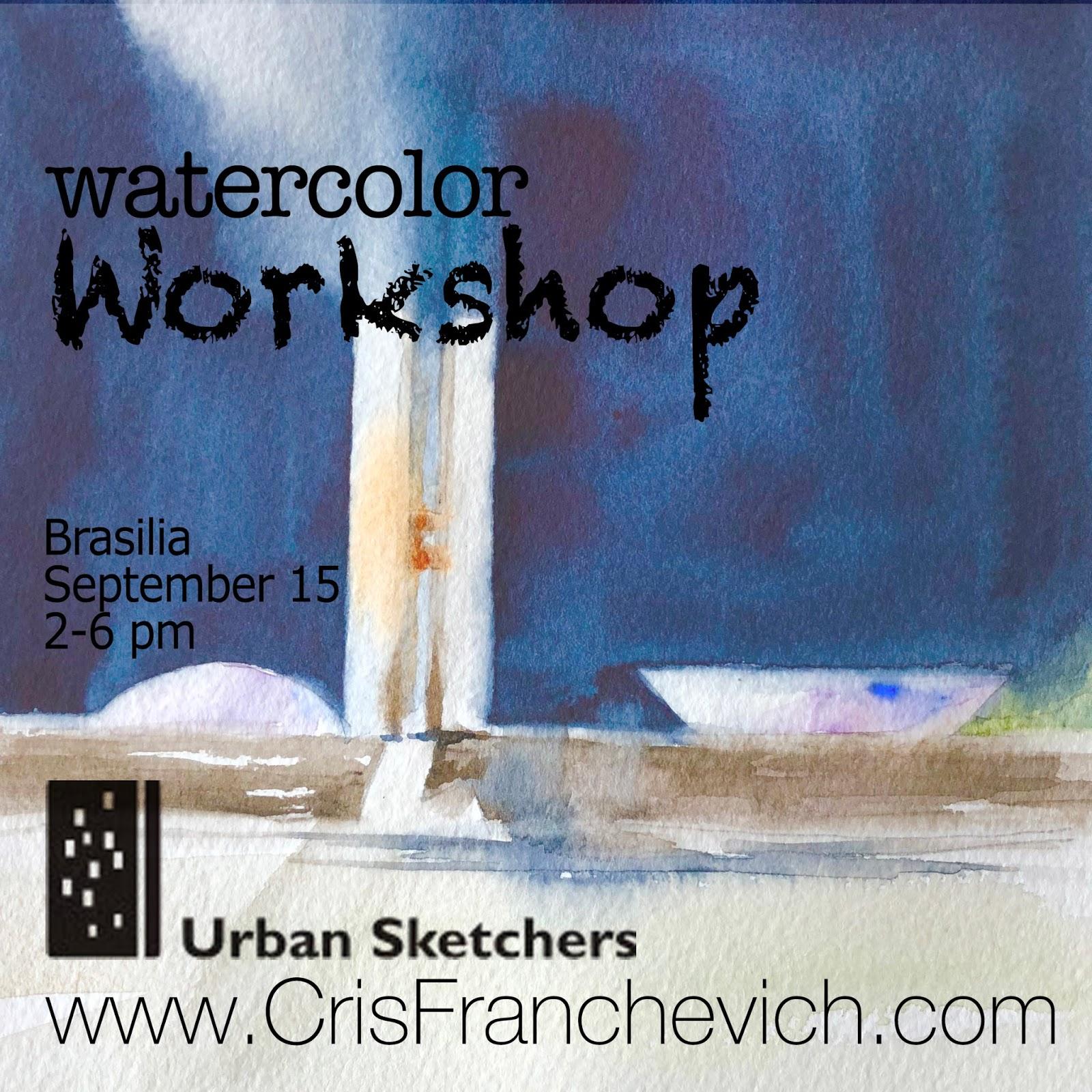 Watercolor Workshop in Brasilia, Brazil | Urban Sketchers