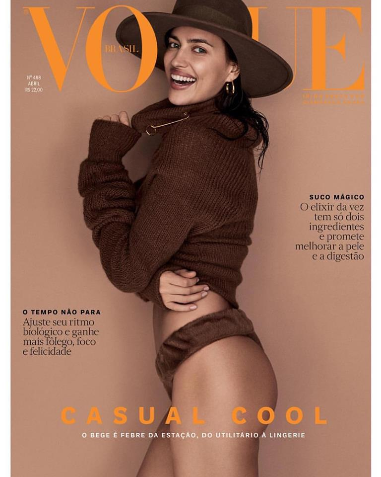 Irina Shayk covers Vogue Brazil April 2019