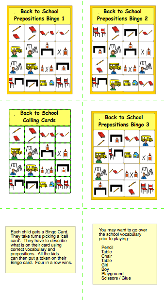 photo relating to Back to School Bingo Printable named Chapel Hill Snippets: Again in direction of Faculty Bingo---absolutely free printable