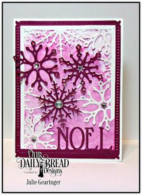 Our Daily Bread Designs Custom Dies: Snowflake Sky, Snow Crystal, Noel Border