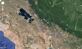 Trajeto detalhado de Quillacollo/Bolívia a La Paz/Bolívia - 360 km.