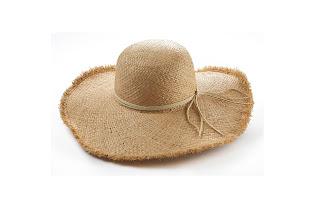 Cappello di paglia da donna naturale
