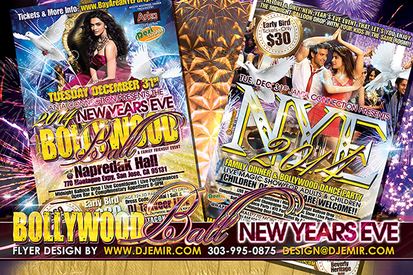New Years Eve Bollywood Ball Flyer Design