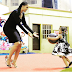 Lovely photo of Sandra Okagbue and her daughter with Flavour