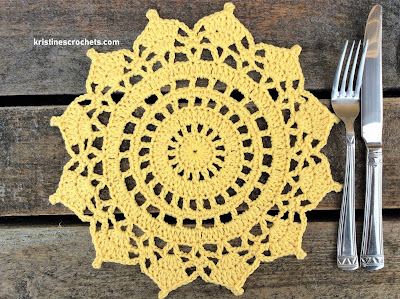 Crochet Doily Placemat Free Pattern