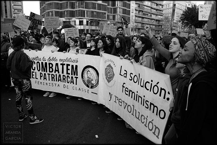 pancarta,valencia,manifestacion,8M,feminista
