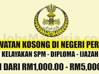 Jawatan Kosong Terbuka Di Negeri Perak - Gaji RM1,000 - RM5,000