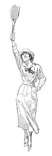 tennis sport player illustration clipart digital download