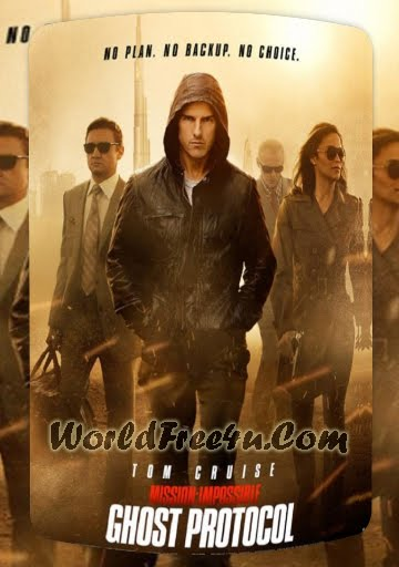 Poster Of Mission Impossible: Ghost Protocol In Dual Audio Hindi English 300MB Compressed Small Size Pc Movie Free Download Only At worldfree4u.com