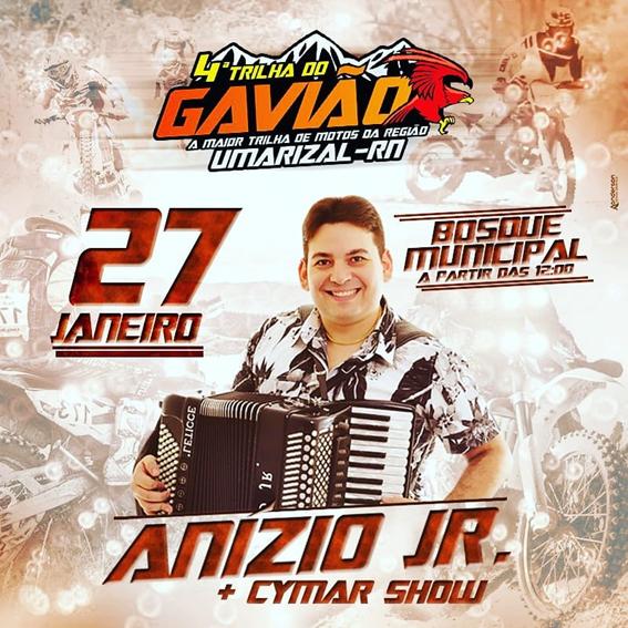 Show com Anízio Júnior marcará o encerramento da 4ª edição da Trilha do Gavião!