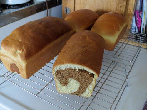 homemade rye swirl bread