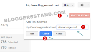 static pages sitemap submit in google search for indexing