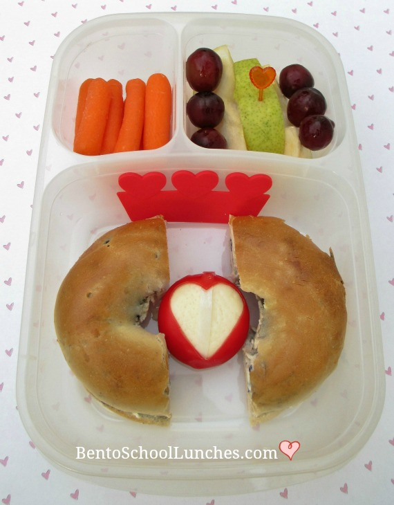 Valentine's Day Bagel lunch