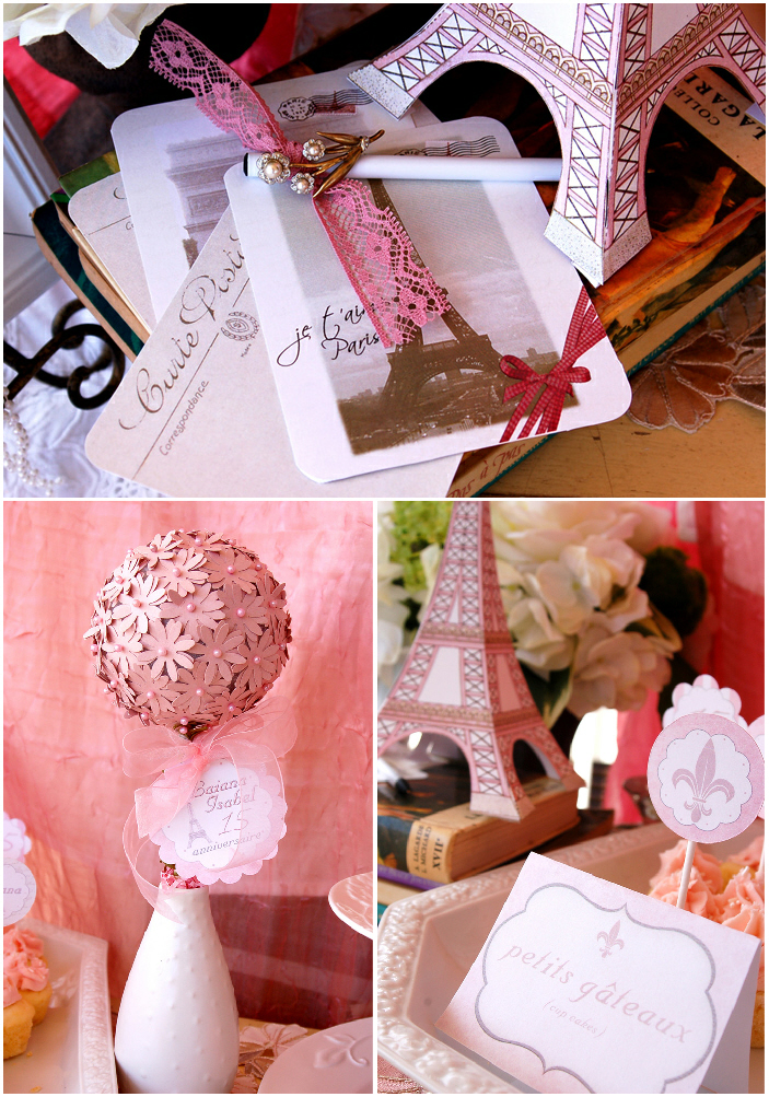 A Pink Vintage Paris Sweet 15th Birthday - via BirdsParty.com
