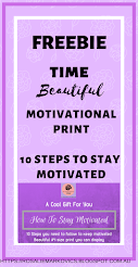 Freebie: How To Stay Motivated-10 Steps