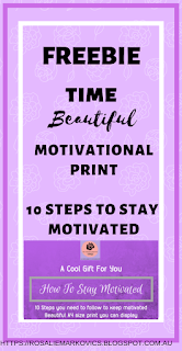 freebie 10 step checklist How to stay motivated