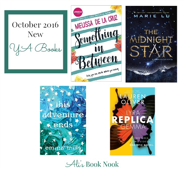 YA fiction books new in October 2016